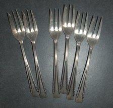 Vintage Silverplate Radad Israel 6 Pastry Dessert Seafood Forks Signed 1950's