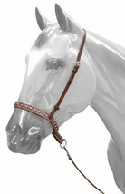 WESTERN HORSE BROWN LEATHER TIE DOWN AND NOSE BAND ROPING BARREL RACING ... - $29.29