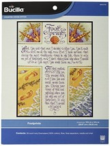 Bucilla Counted Cross Stitch Kit, 10.5 by 14.25-Inch, 42760 Footprints - $39.59