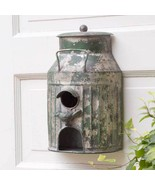 Cute Milk Can Birdhouse Birdfeeder, Yard Garden Decor - $34.65