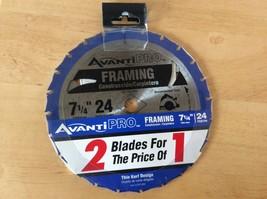 "AVANTI PRO FRAMING CIRCULAR SAW BLADE 2 PC 7-1/4"" 24 teeth new - $17.99"