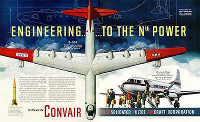 Primary image for 1951 Convair B-36F - Promotional Advertising Poster