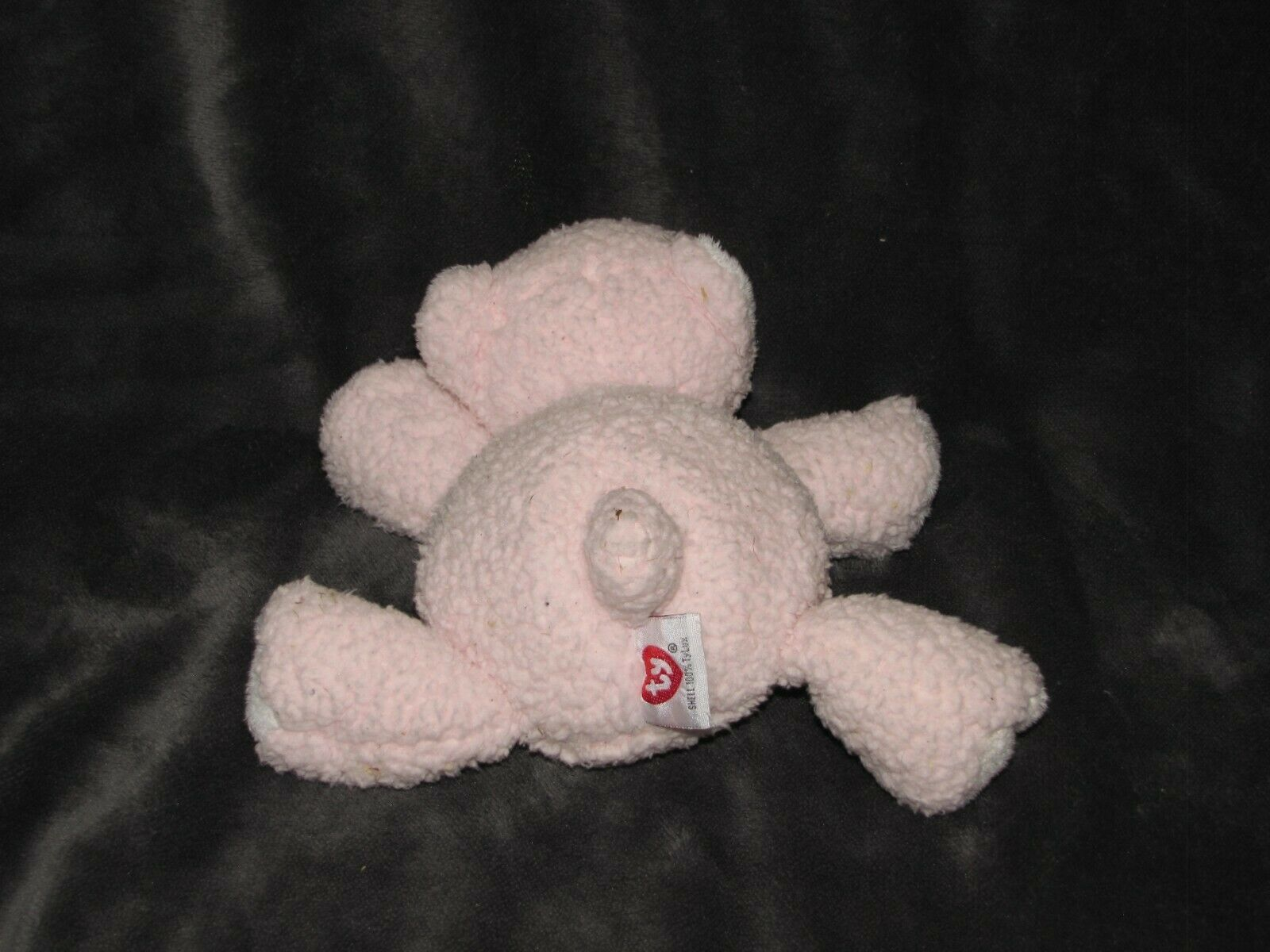 TY PLUFFIES 2005 CUBBY CUDDLES LOVE TO BABY TEDDY BEAR PINK STUFFED ANIMAL PLUSH