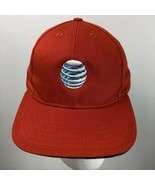 AT&T ATT Baseball Cap Hat America USA Orange Embroidered Logo Adjustable - $24.74
