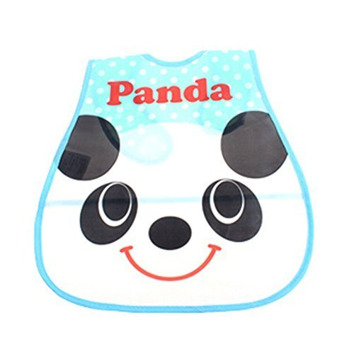 Lovely Smile Panda Adjustable Waterproof PVC Baby Bib Pocket Protect Bib 4528CM