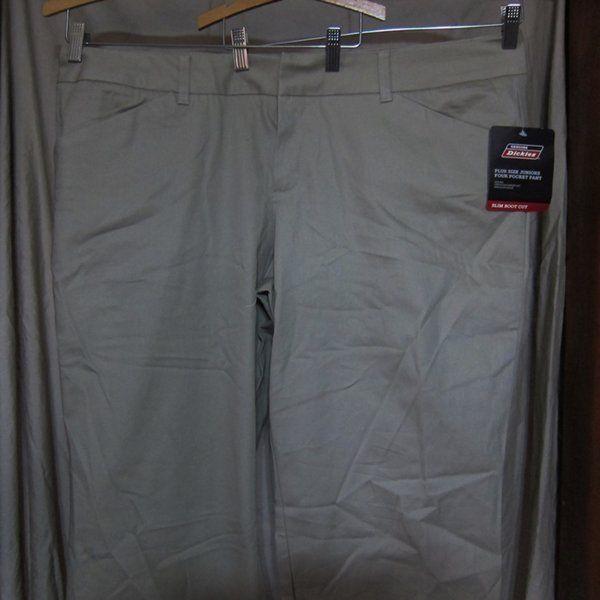NWT Dickies Tan Stretch Twill Pants Slacks Size 20