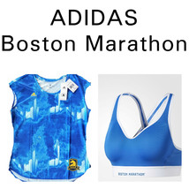 ADIDAS Women BOSTON Marathon 2PC SMALL Sports Bra & Running Shirt Climalite - $56.09