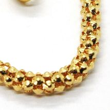 18K YELLOW GOLD BRACELET, 18.5 CM, 7.3 INCHES, BASKET WEAVE TUBE, 4 MM THICKNESS image 3