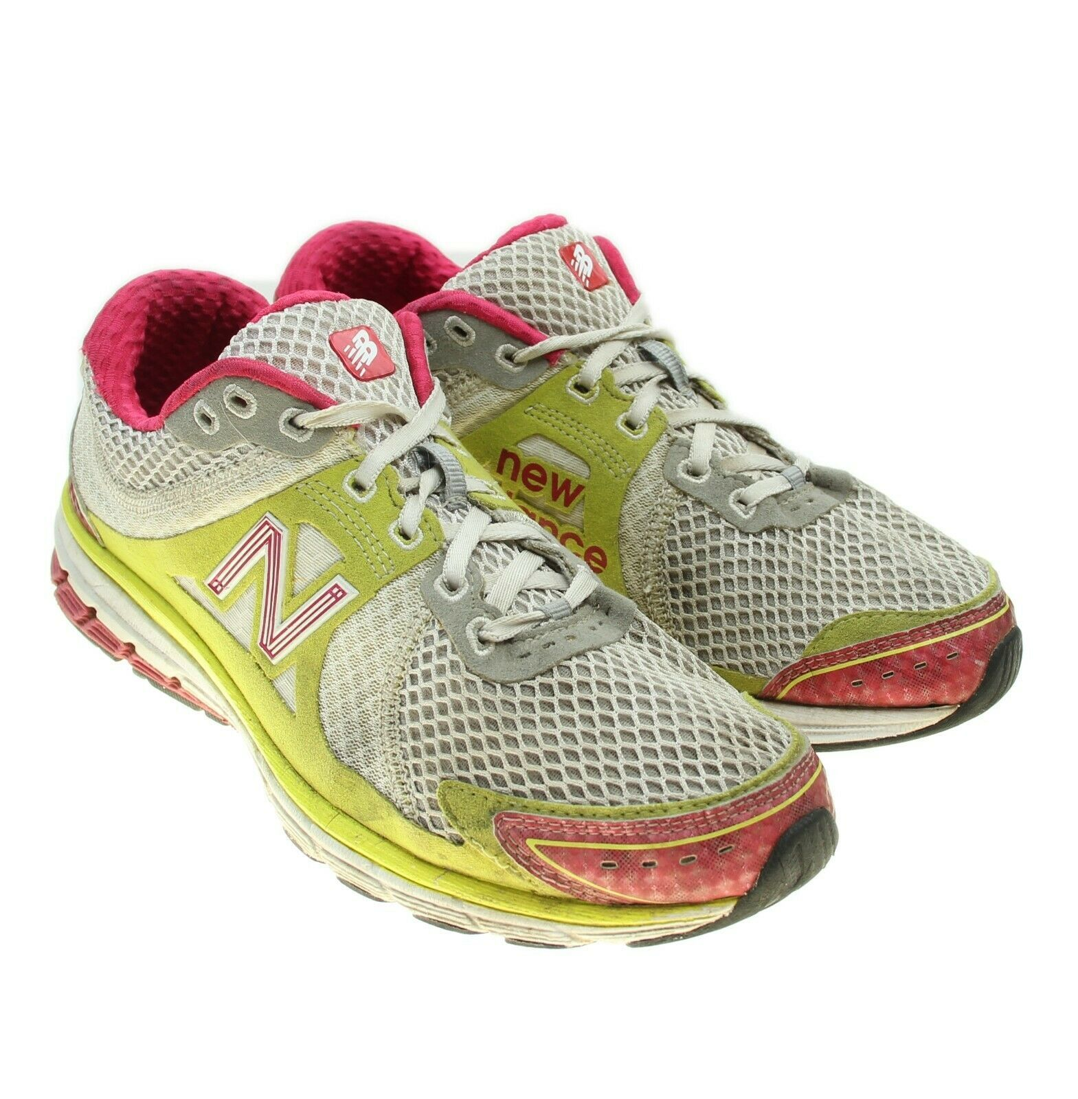 NEW BALANCE 1190 Womens White Yellow Running Training Sneakers 9.5 WR1190PL - $24.25