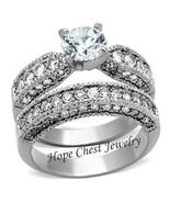 WOMEN'S STAINLESS STEEL 1.25 CARAT CZ ENGAGEMENT & WEDDING RING SET SIZE... - $21.14
