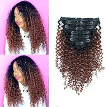 Sassina 120 Grams Jerry Curly Clip In Human Hair Extensions Double Wefts For Afr