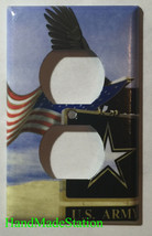 USA U.S. Army Eagle Flag Light Switch Power Outlet Cover Wall Plate Home Decor image 2