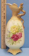 Vintage Porcelain Pitcher Vase Ewer Yellow Rose Royal Wettina Austria R ... - $70.28