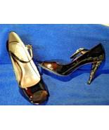"Jessica Simpson Sz 8 B Patent Patton Leather Peep Toe Pump  4"" Heel - $15.45"
