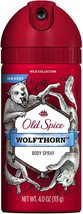 Old Spice Wolfthorn Body Spray 4 oz  - $17.95