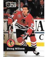 Doug Wilson ~ 1991-92 Pro Set #52 ~ Blackhawks - $0.05
