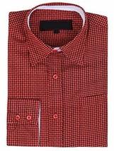 LW Men's Western Cowboy Long Sleeve Button up Rodeo Dress Shirt (Large, Pattern