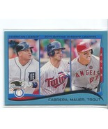 MIGUEL CABRERA/JOE MAUER/MIKE TROUT 2014 Topps Wal-Mart Blue Border #103 LL - $4.99