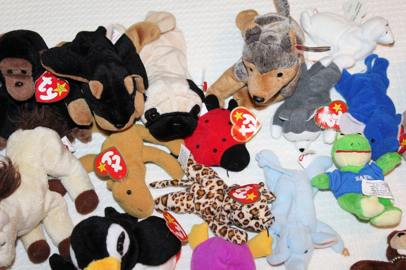 TY BEANIE BABIES Lot of 40 Mixed Lot Tags on Most