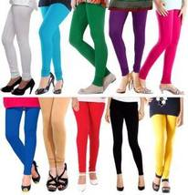 Plain cotton stitched legging pack of 10 by Fateh Enterprises - $65.00