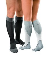 JOBST Sport Knee High 15-20 mmHg Compression Socks, White/Grey, Large - $38.32