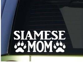 Siamese Mom sticker H286 8.5 inch wide vinyl cat kitten litter box - $4.04