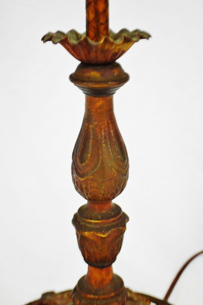 Vintage Art Deco Metal Floor Lamp with Dual Fixture image 10
