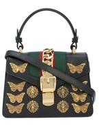 NWT Gucci Sylvie animal studs black leather small shoulder bag ; Rtl $3190 - $2,449.04