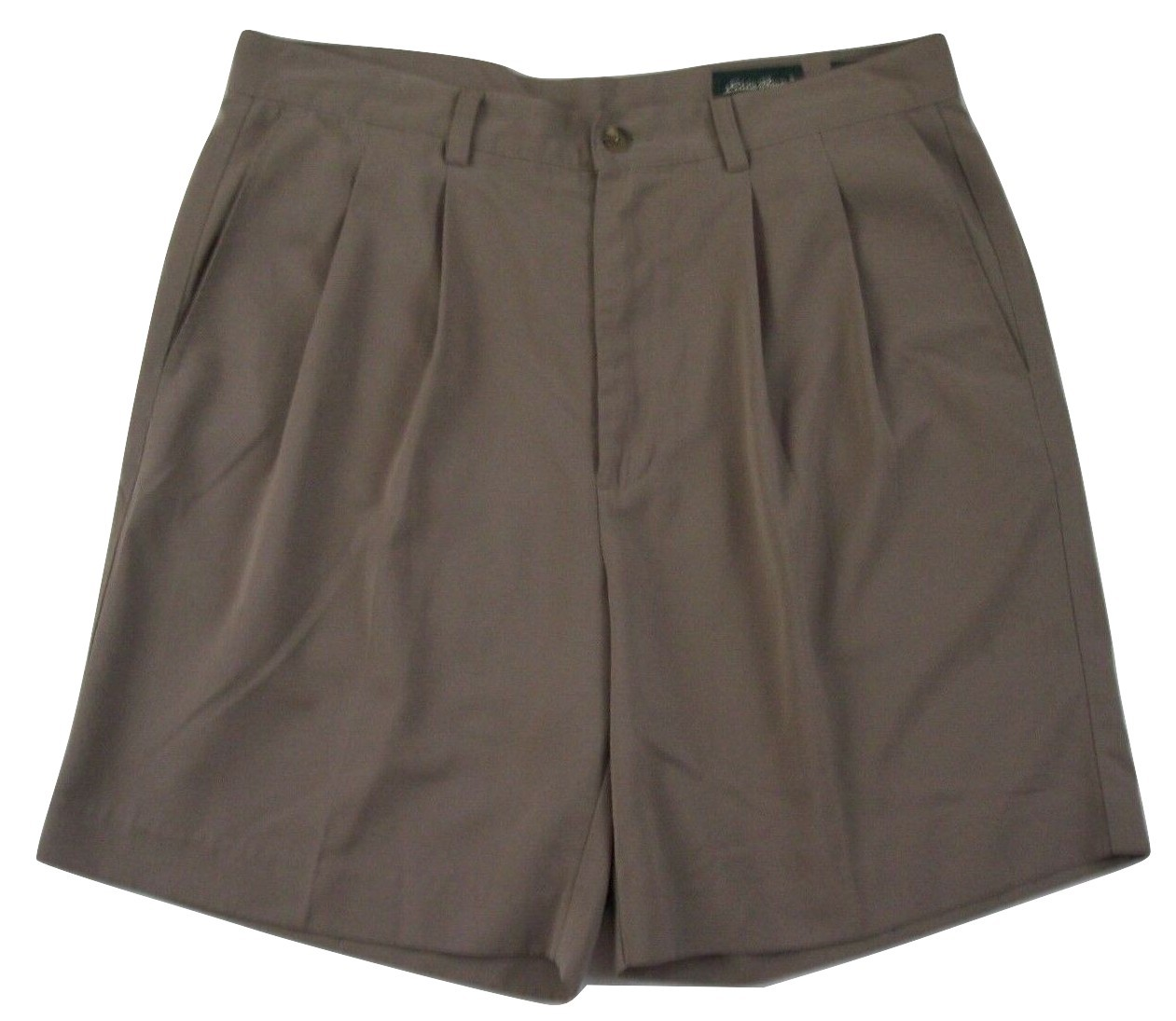 "Eddie Bauer Pleated Golf Shorts Men's W36 Inseam 8"" 100% Polyester"