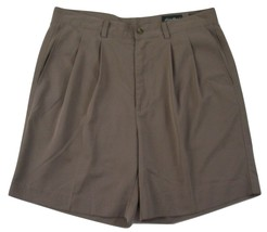 "Eddie Bauer Pleated Golf Shorts Men's W36 Inseam 8"" 100% Polyester - $19.79"