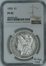 1903 Proof Morgan Dollar NGC PF-45; Mintage 755 - $1,187.99