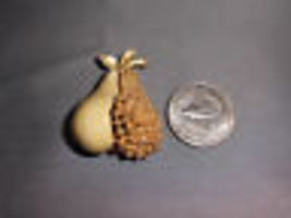 VTG 1960's BSK Enameled Pear Brooch Pin Gold Tone image 6