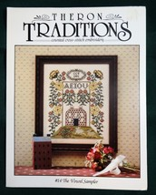 The Vowel Sampler Cross Stitch Pattern Leaflet #14 Theron Traditions - $3.95