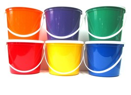 6 80 Oz Plastic Buckets Lids Food Safe Containers Mfg. USA Lead Free Durable - $35.55