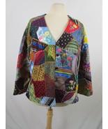 Patchwork Crazy Quilt Jacket Vintage 60's 70's  Hand Pieced Lined  M-L  - $229.90
