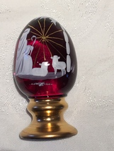 Fenton Ruby Red Hand Painted Limited Edition Christmas Egg - $30.00