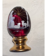 Fenton Ruby Red Hand Painted Limited Edition Christmas Egg - $25.00