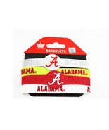 NCAA Sports Team Logo Alabama Crimson Tide Silicone Bracelets - 4 Pack - $10.99