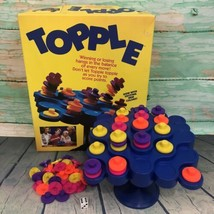 Vintage 1990's Topple Game Pressman Family Fun Complete with Original Bo... - $19.99