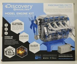 Discovery Mindblown 104 Piece Model Engine Kit with Moving Parts & LED L... - $39.97