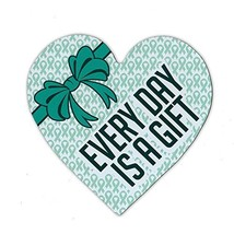 Refrigerator Magnet - Cervical Cancer Heart - Every Day Is A Gift - Supp... - $6.99