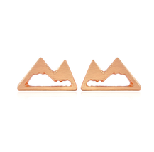 5 pairs of  Mountain Rose Gold Plated Stud Earring Stud (NGED100B) - $12.50
