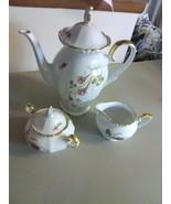 Vintage W Eschenbach Bavaria Germany Briar Rose China Tea Set - $119.55