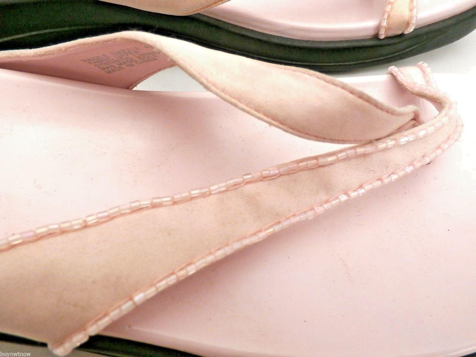 Kenneth Cole Reaction Pink Razzle Dazzle Thongs Flip Flops Sandals Womens 10 image 4