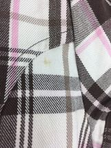 Girl's Justice Brown pink White Plaid Short Sleeve 3 Button Blazer Size L 14 image 4
