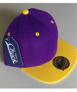 New Original Chuck Purple Yellow Casual Hat Cap Snap-Back One Size New - £14.50 GBP