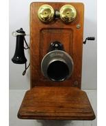 Raise Panel Oak Wall Telephone - $495.00