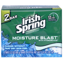 Irish Spring Moisture Blast Original Scent Or Aloe Soap Bars 2-ct. Packs - $8.97