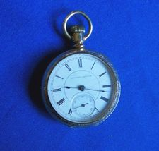 Antique Hampden 18 size Open Face 11 Jewel Springfield MA Pocket Watch - €115,73 EUR