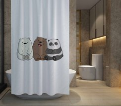 """HOT SALE We Bare Bears Shower Curtain Size 60"""" x 72"""" Free Shipping - $48.10"""